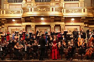Konzert im Grossen Saal des Wiener Musikvereins: Vijay Upadhyaya, Dirigent; Monika Medek, Sopran; Wiener Schubert Symphonie Orchester; Vienna Festival Choir