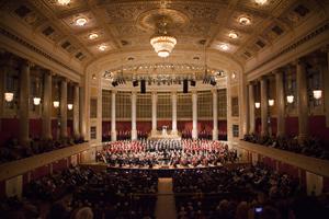 Ein Deutsches Requiem op. 45 von Johannes Brahms - Konzerthaus Wien - Chor und Orchester der Universitaet Wien unter der Leitung von Vijay Upadhyaya - V. Ihr habt nun Traurigkeit; Monika Medek, Sopran Foto@Andreas Friess