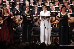 Elena Suvorova, Alt II; Magdalena Rueker, Alt I; Monika Medek, Sopran II, Teres Illes, Sopran I; Foto: Andreas Friess