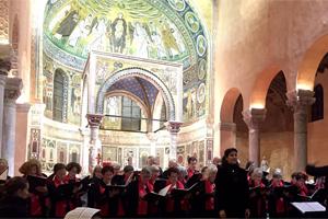 Konzertreise durch Kroatien, hier in der Euphrasius Basilika in Porec, mit dem Chor Femmes Vocales unter der Leitung von Veronika Schmid
