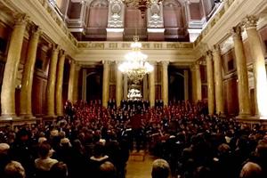 Beethoven Symphonie No. 9 Chor und Orchester der Uni Wien, Leitung Maestro Vijay Upadhyaya, Sopransolo Monika Medek; Festsaal der Universit�t Wien