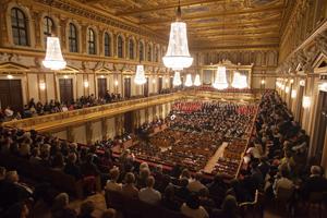 Beethoven Symphonie No. 9 Chor und Orchester der Uni Wien, Leitung Maestro Vijay Upadhyaya, Sopransolo Monika Medek; Musikverein, Goldener Saal Foto: Andreas Friess